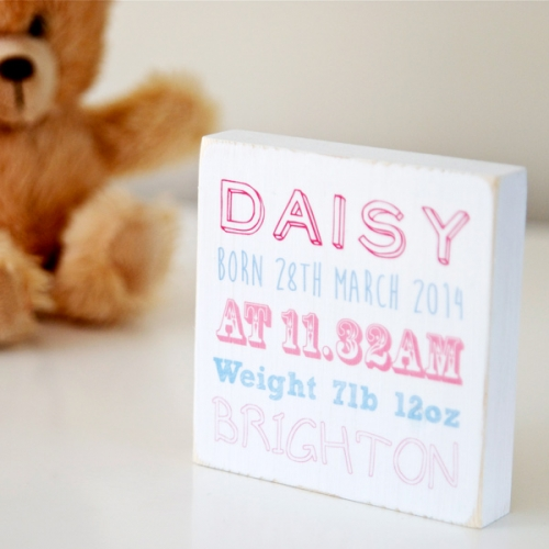 Baby birth detail block