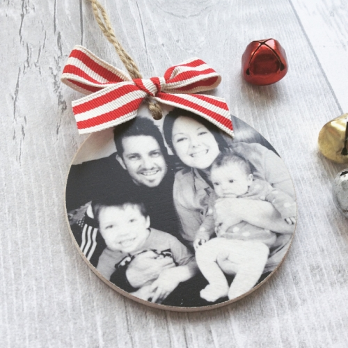 Personalised Wooden Photo Bauble