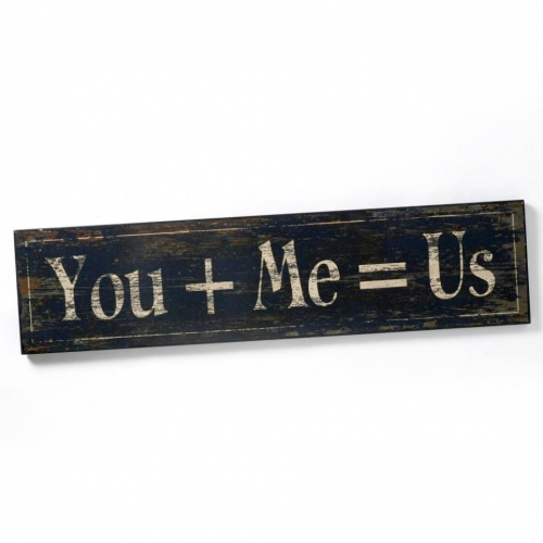 You+me=us plaque