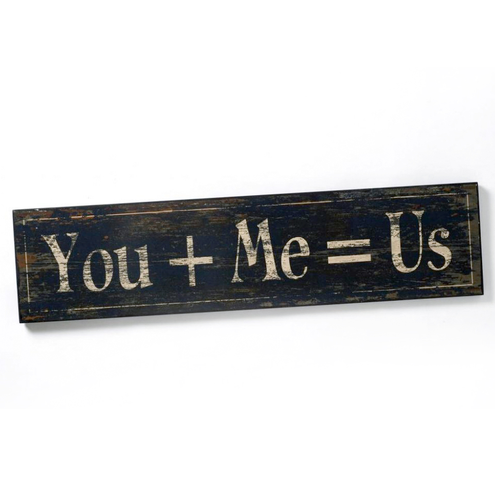 You+me=us plaque