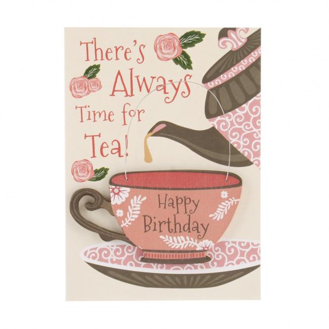 Happy Birthday Teacup Greetings Card