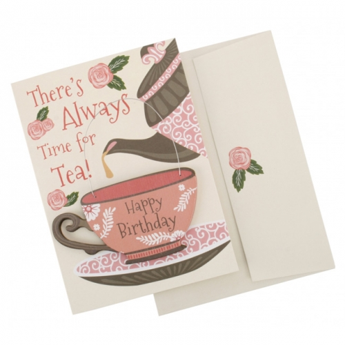 Birthday teacup card