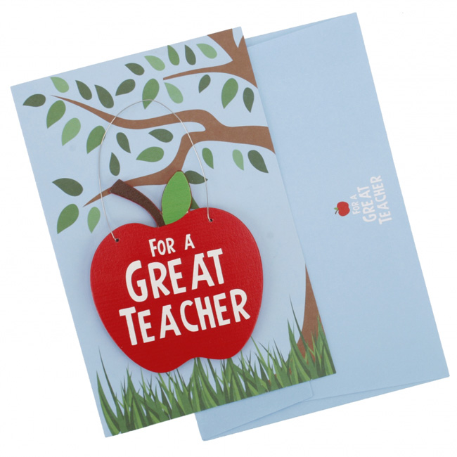For a great teacher card