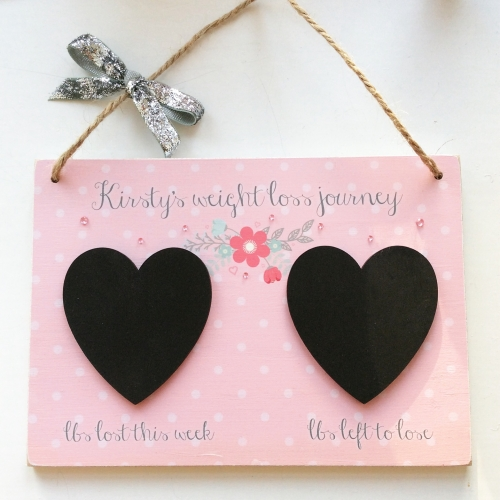 Personalised Weight Loss Wooden Plaque