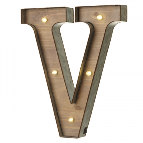 Light up LED Letter – V
