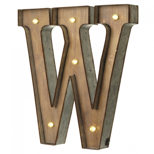 Light up LED Letter – W