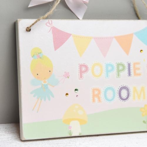 Personalised fairies name room door plaque