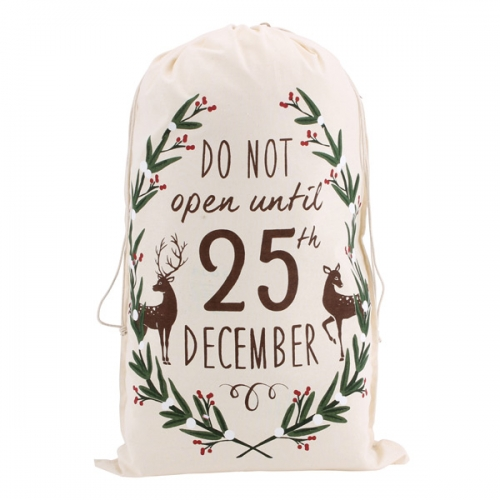 'Do Not Open Until 25th December' Canvas Sack