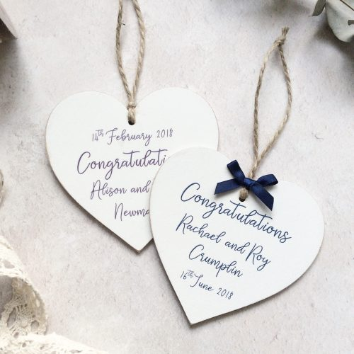 Personalised Choose Your Own Text Wooden Heart