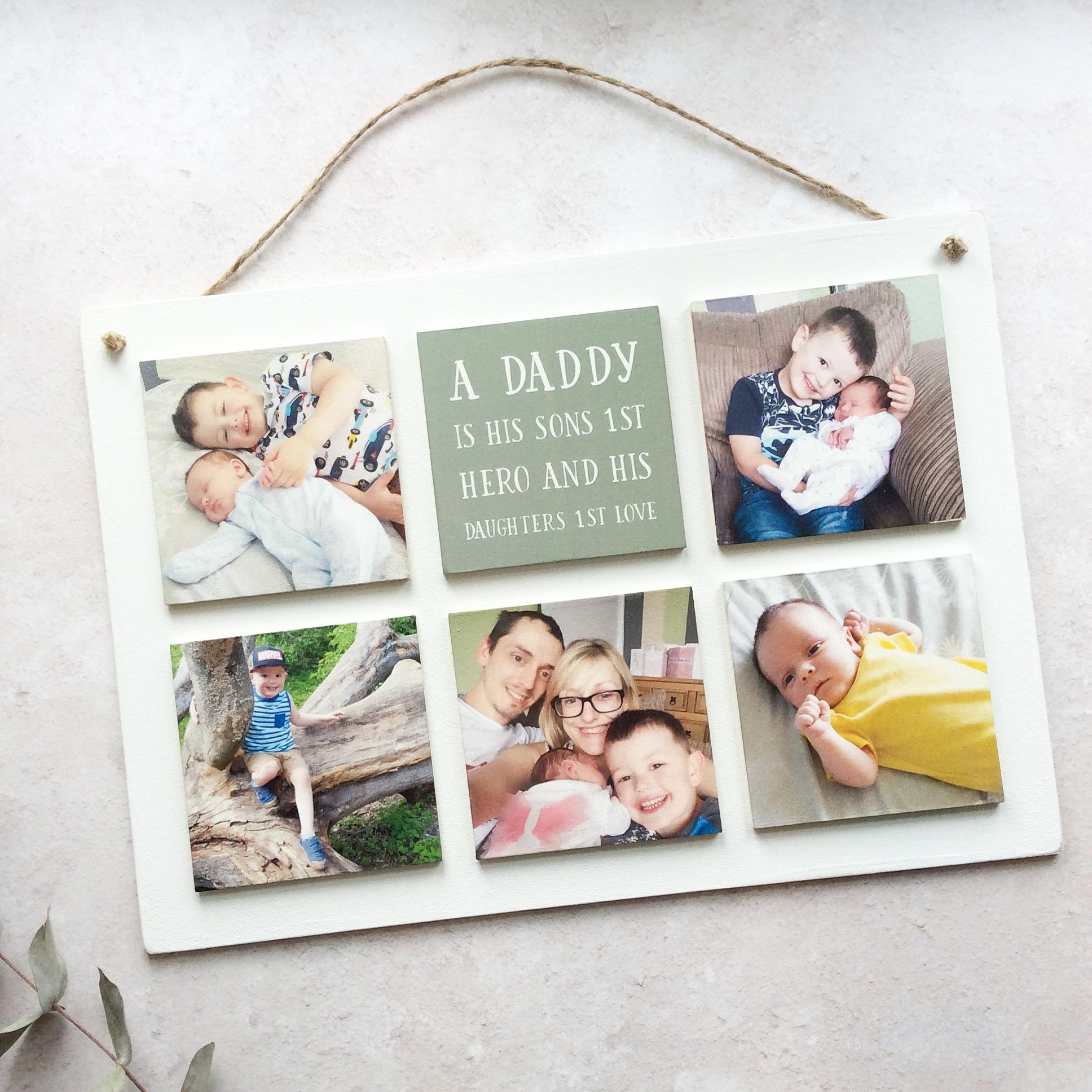6 Tile Wooden Photo Plaque
