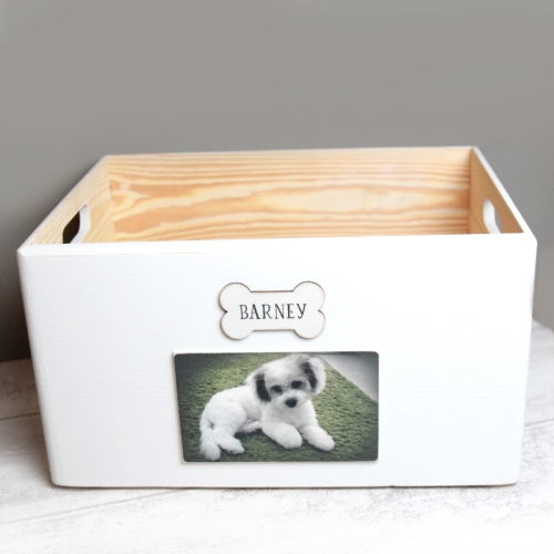 Personalised Wooden Pet Toy Box