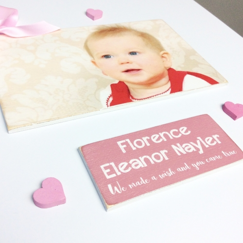 Personalised Photo Baby Keepsake Box