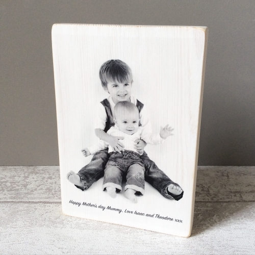 Wooden photo block