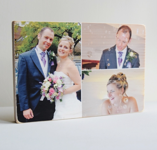 Personalised Wooden Photo Block - Large