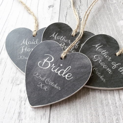 Wedding favour personalised hearts