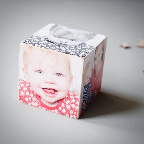 Personalised Wooden Photo Cube