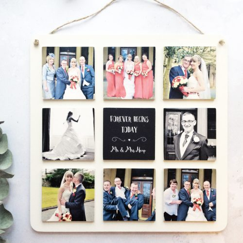 9 Tile Wooden Photo Plaque