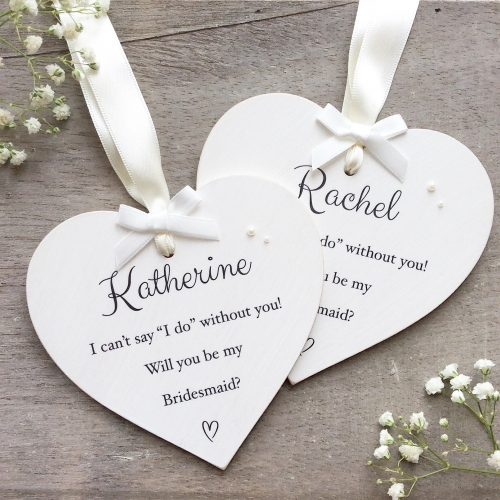 Personalised Will you be my Bridesmaid Heart