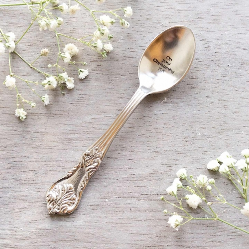 On Your Christening Engraved Small Spoon