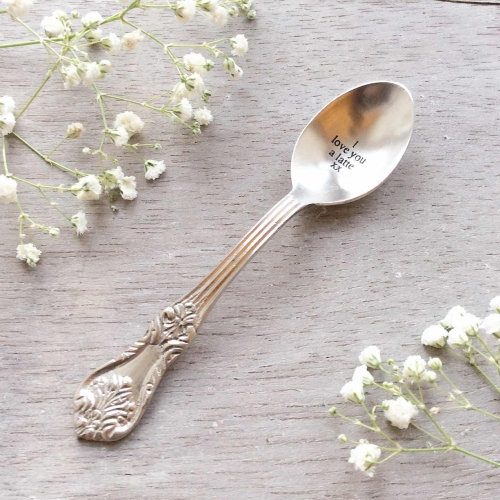 I love you a latte Engraved Small Spoon