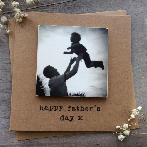 Personalised Wooden Photo Magnet Greetings Card