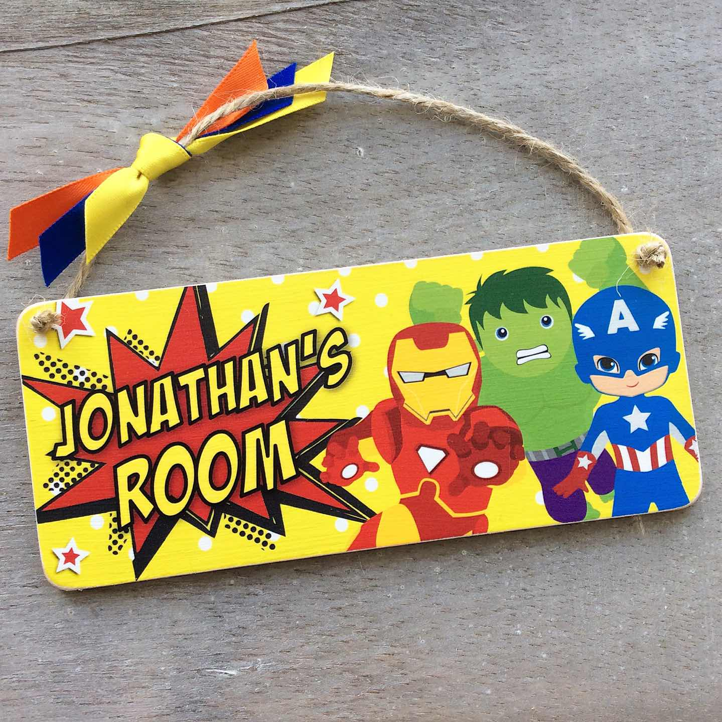 Personalised Superhero Plaque/Bedroom Door Sign