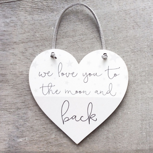 We love you to the moon and back Heart