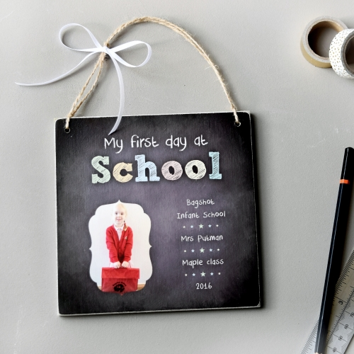 My First Day at School Photo Plaque