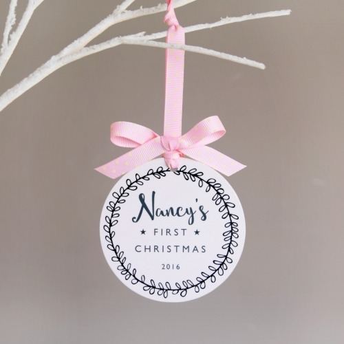 Personalised Baby's First Christmas Bauble