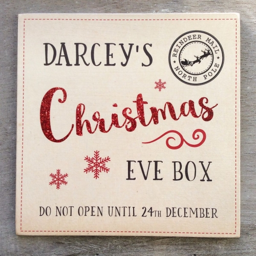 Personalised Christmas Eve Box Plaque