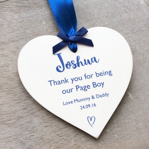 Thank you Flower Girl/Page Boy personalised wedding heart