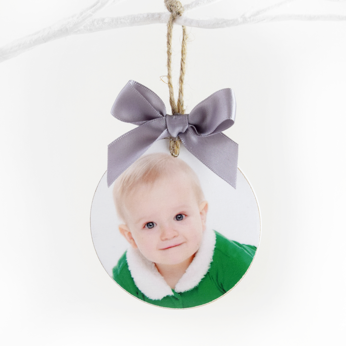 Personalised Wooden Photo Bauble Decoration