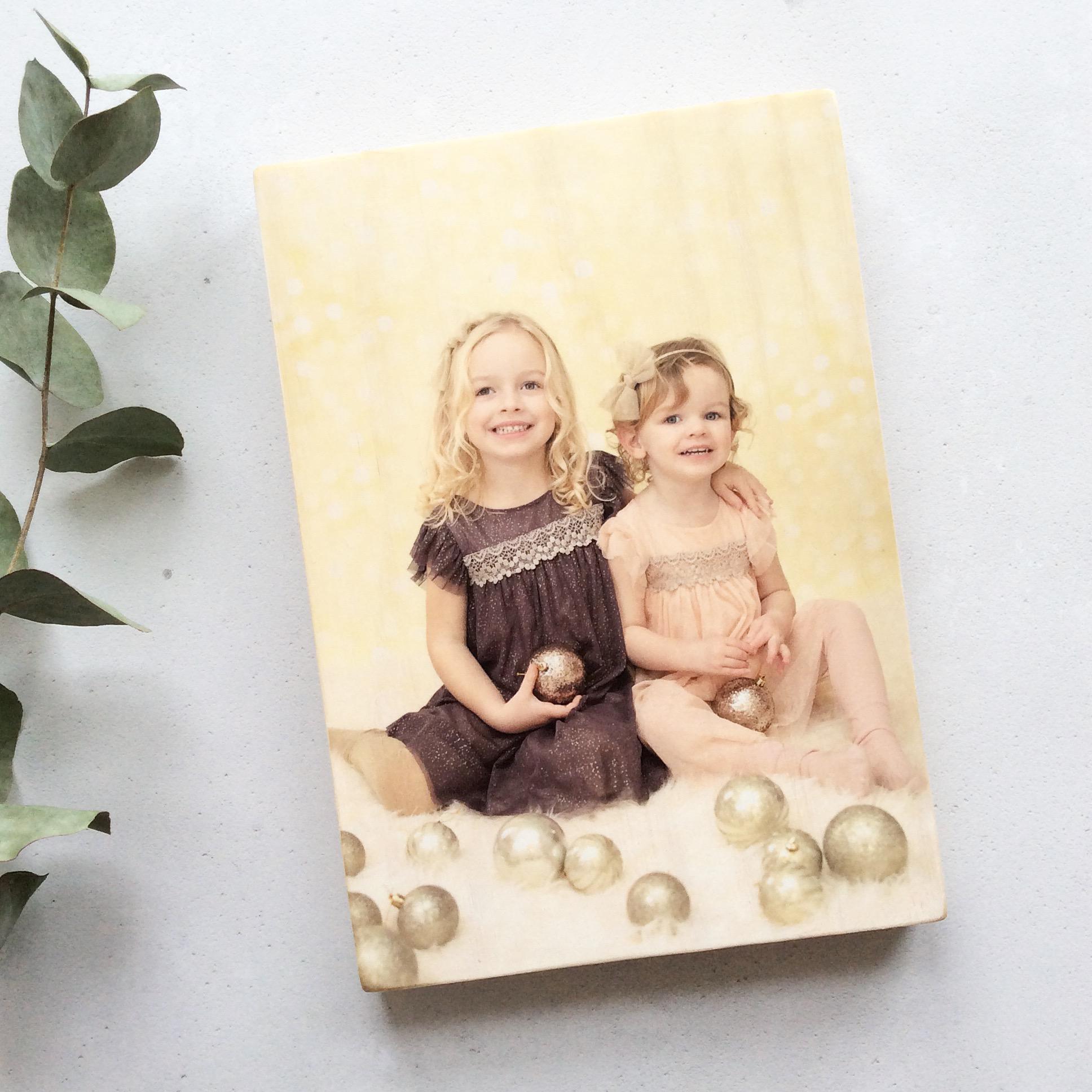 Personalised Wooden Photo Block - Large