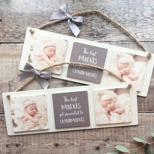 3 Tile Wooden Photo Plaque
