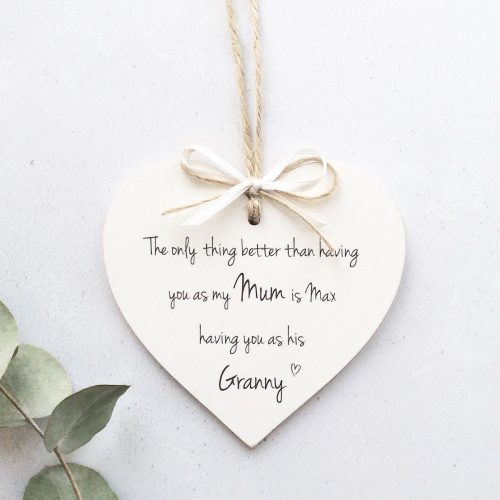 Personalised Heart Plaque - The only thing better than