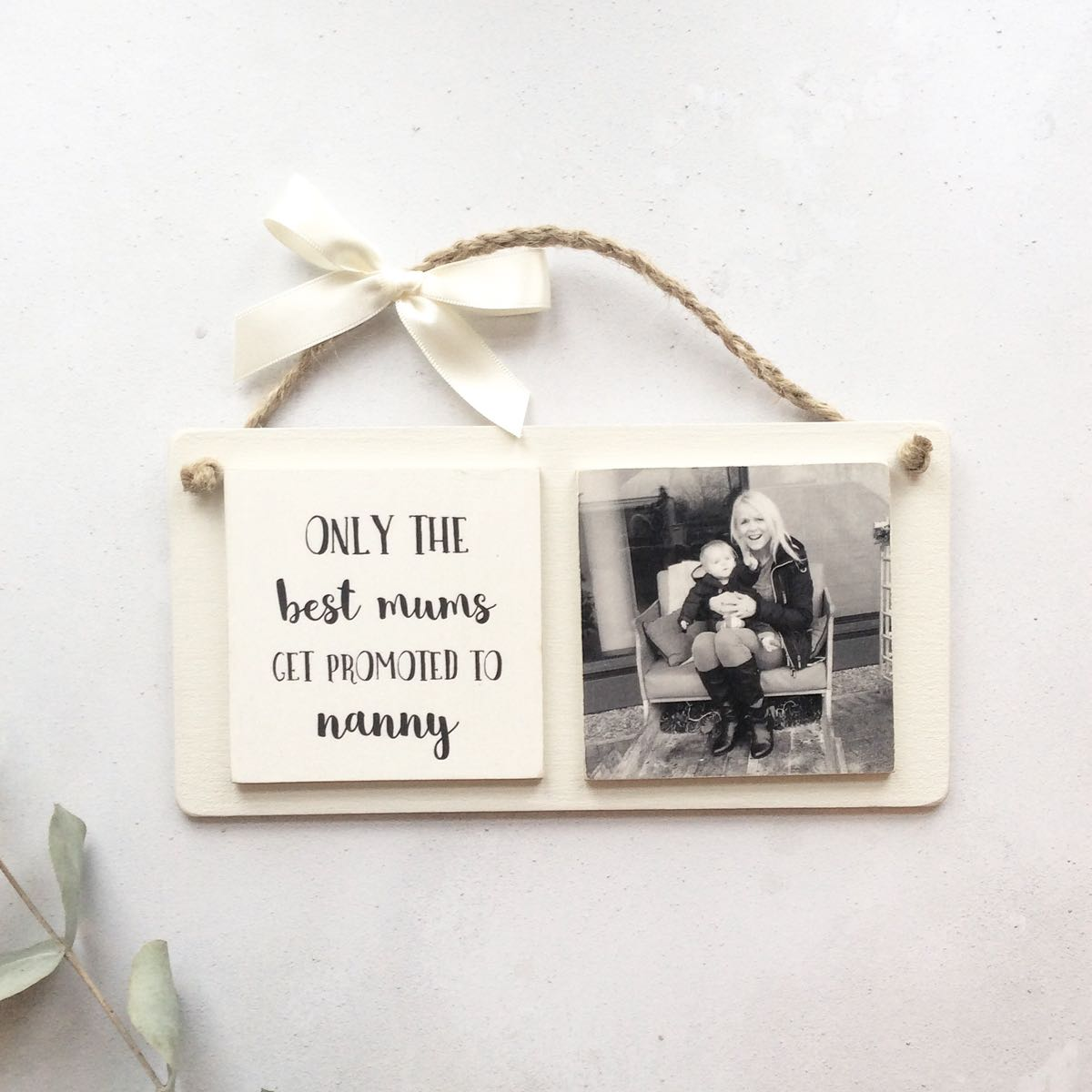 2 tile wooden photo plaque personalised photo gifts. Black Bedroom Furniture Sets. Home Design Ideas