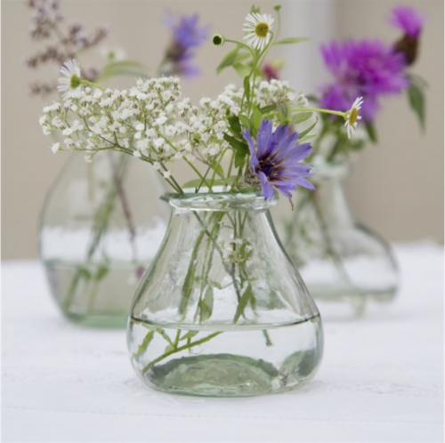 Wild Bouquet Glass Vases - Set of 3