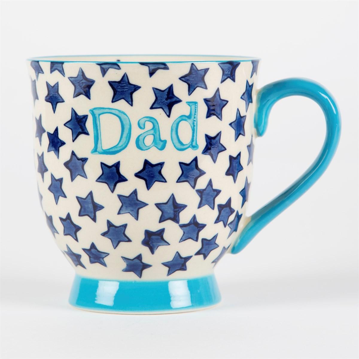Blue Stars Dad Mug