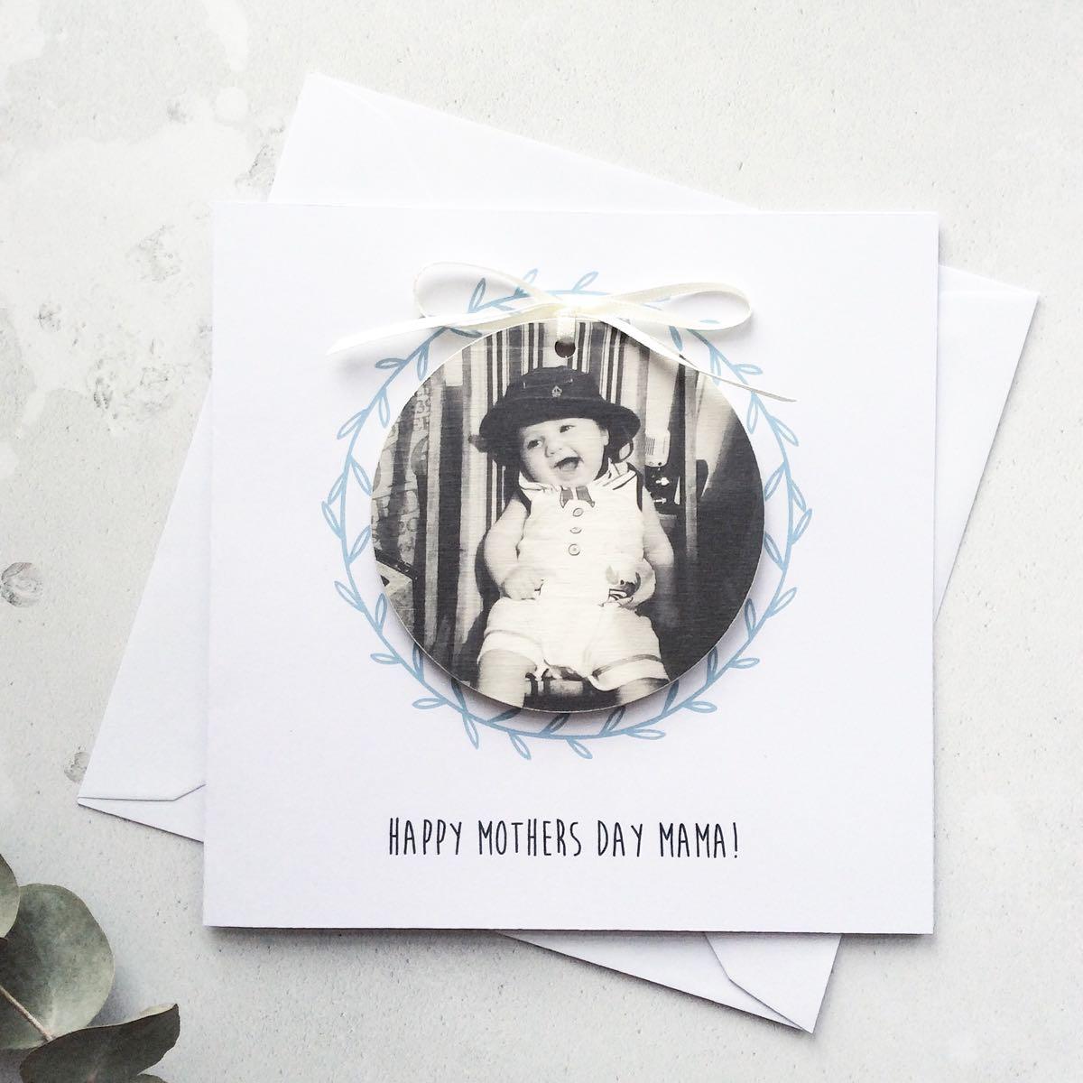 Personalised Wooden Photo Keepsake Greetings Card