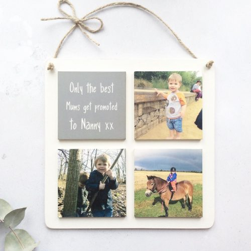 4 Tile Wooden Photo Plaque