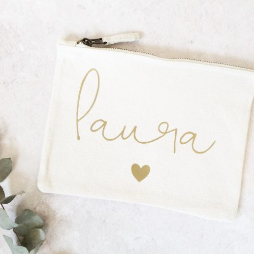 Personalised Cotton Makeup Bag