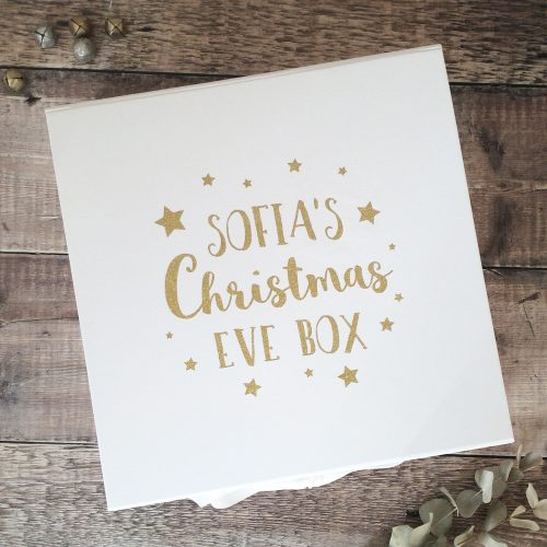 Personalised White Christmas Eve Box