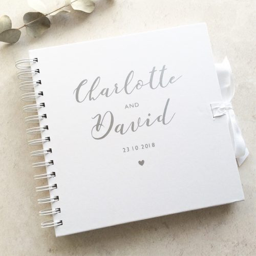 Personalised Wedding Guestbook Silver