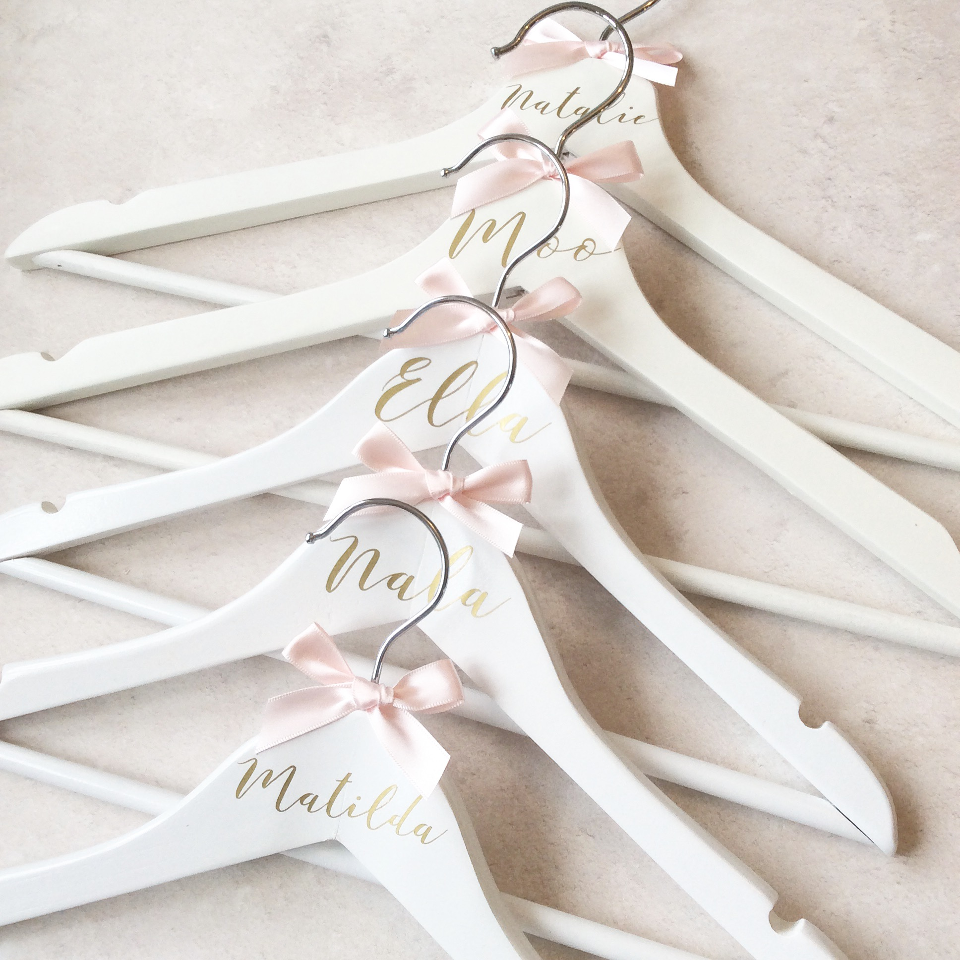 Personalised White Wooden Hanger - Childs size