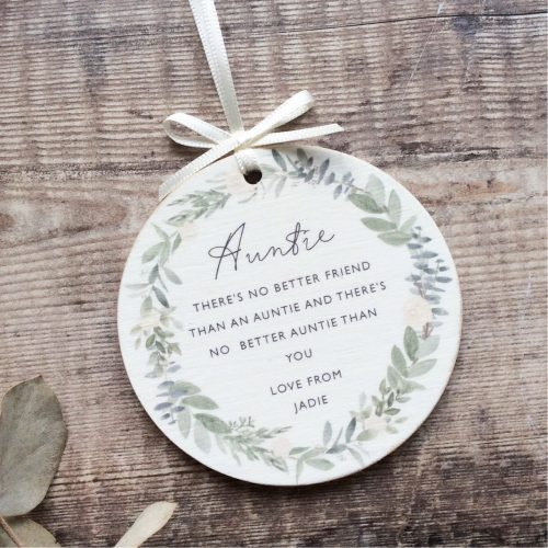 Personalised No Better Friend Wooden Keepsake Decoration