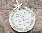 Personalised New Home Wooden Keepsake Decoration