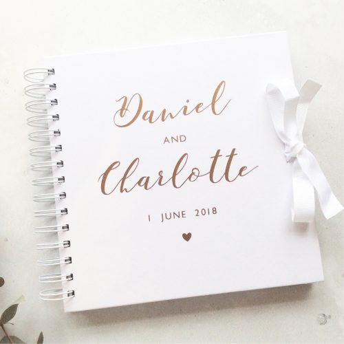 Personalised Wedding Guestbook Copper