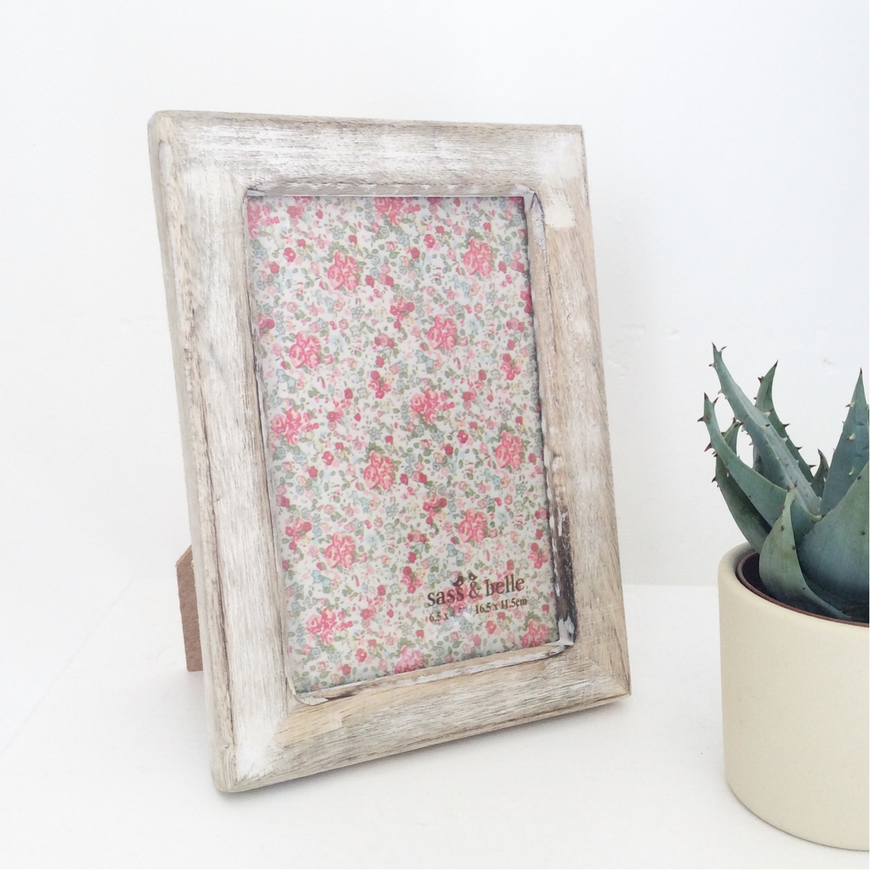 Wooden Whitewash Frame