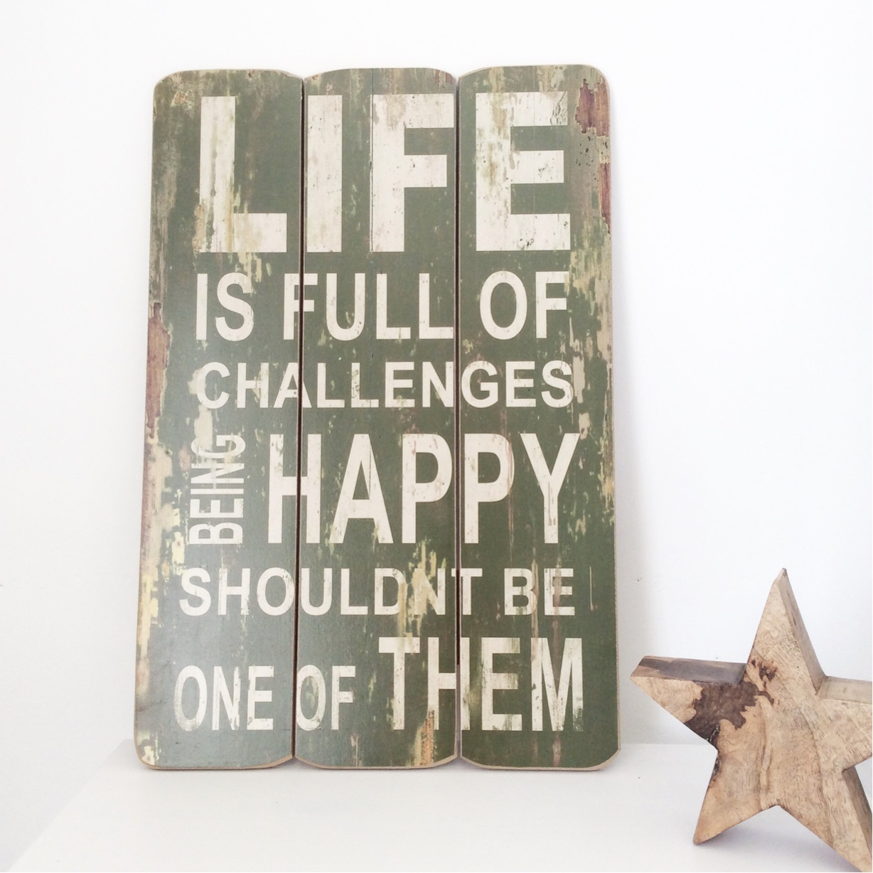 Life is full of Challenges Wooden Plaque