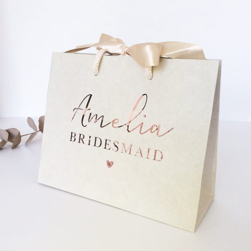 Personalised Luxury Wedding Gift Bag
